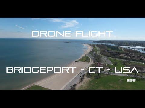 DRONE FLIGHT over Bridgeport - CT - USA