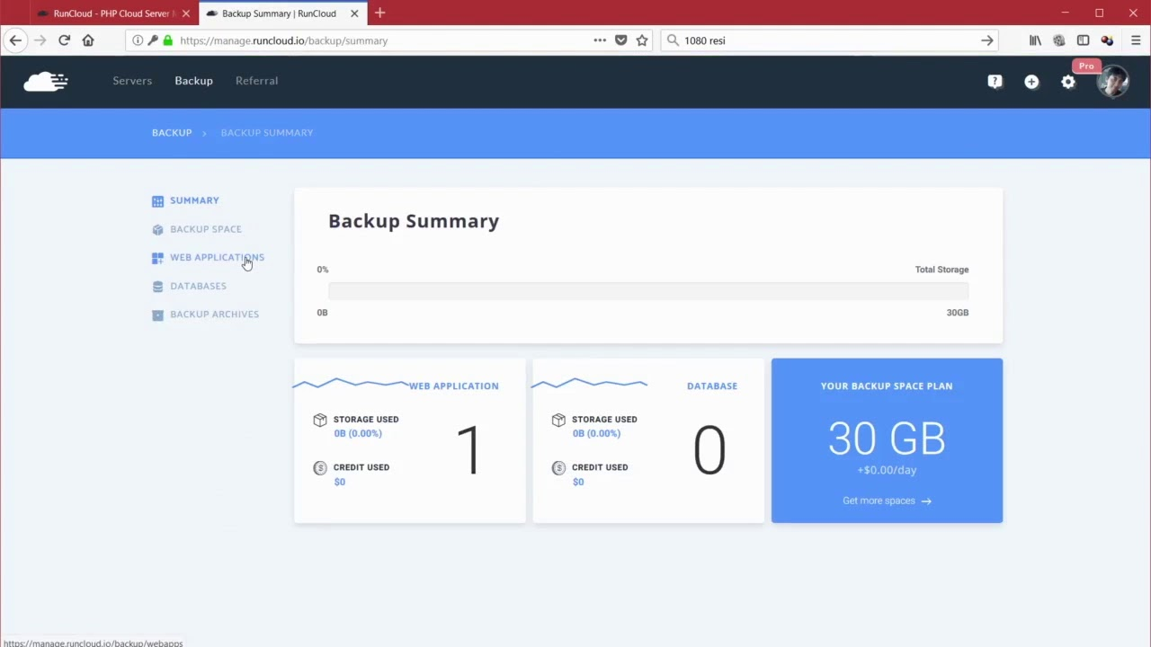 Backup Your Web App Easily With RunCloud Feature