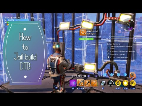 Deliver The Bomb - DTB - Jail Build Tutorial - Save The World (STW) Fortnite