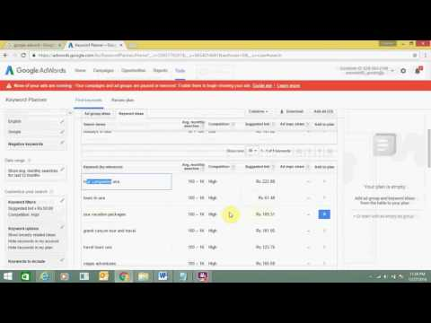 Google AdWords Keyword Planner To Find New Keywords and Get Search Volume Data