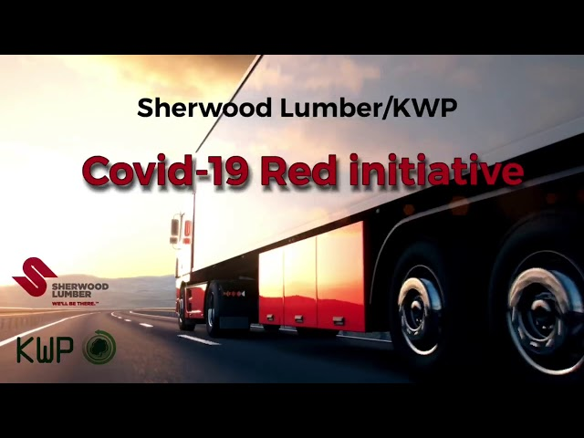 Sherwood Lumber and KWP Covid—19 Red Initiative