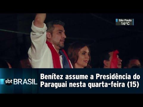 Mario Benítez assume a Presidência do Paraguai nesta quarta-feira | SBT Brasil (14/08/18)