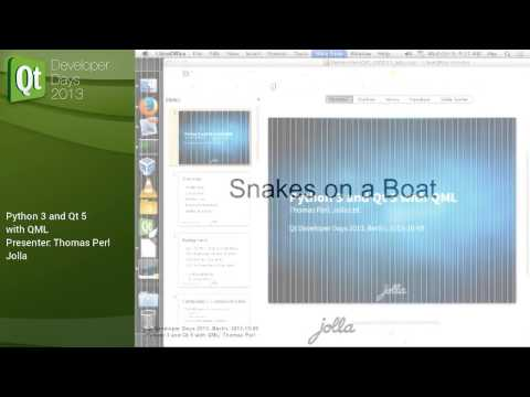 QtDD13 - Thomas Perl - Python 3 and Qt 5 with QML