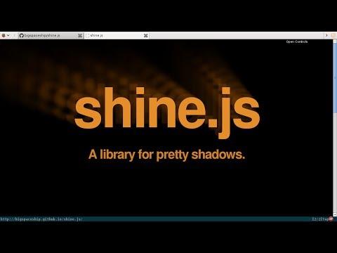 shine.js for pretty shadows