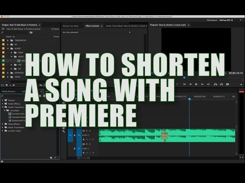 How to Shorten a Song with Premiere