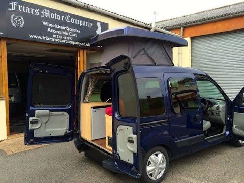 renault kangoo motor home automatic canterbury youtube. Black Bedroom Furniture Sets. Home Design Ideas