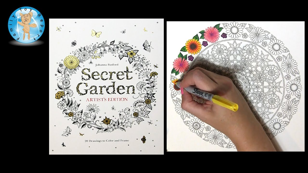 Secret Garden Artists Edition By Johanna Basford Adult Coloring Book Flowers