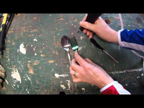 How to Make Engraved Silverware Garden Plant Markers