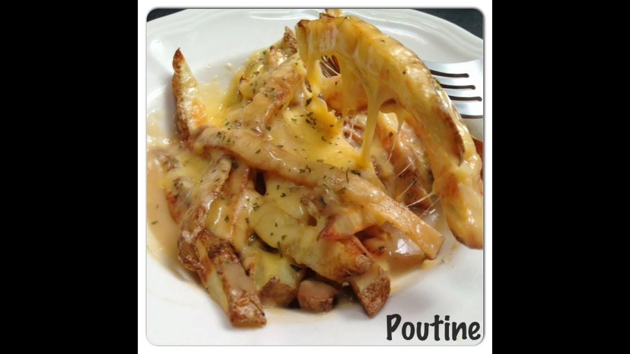 Easy Baked Gravy Cheese Fries Poutine Recipe - YouTube
