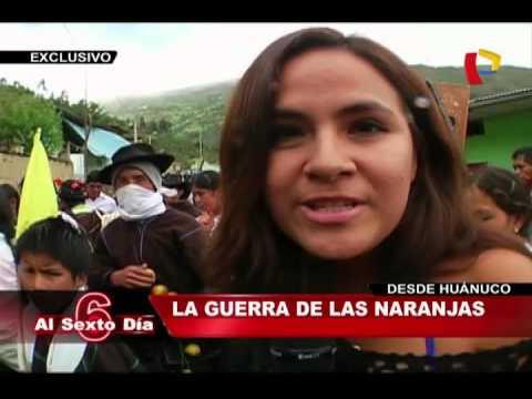 'La Guerra De Las Naranjas': Conozca Esta Divertida Tradición Huanuqueña