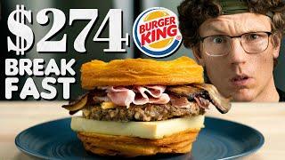 $274 Burger King Breakfast Sandwich Taste Test   Fancy Fast Food
