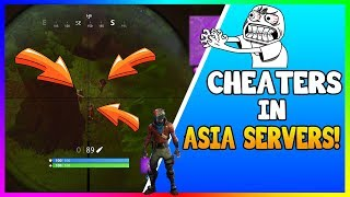 CHEATERS IN ASIA SERVER! (Fortnite Battle Royale)