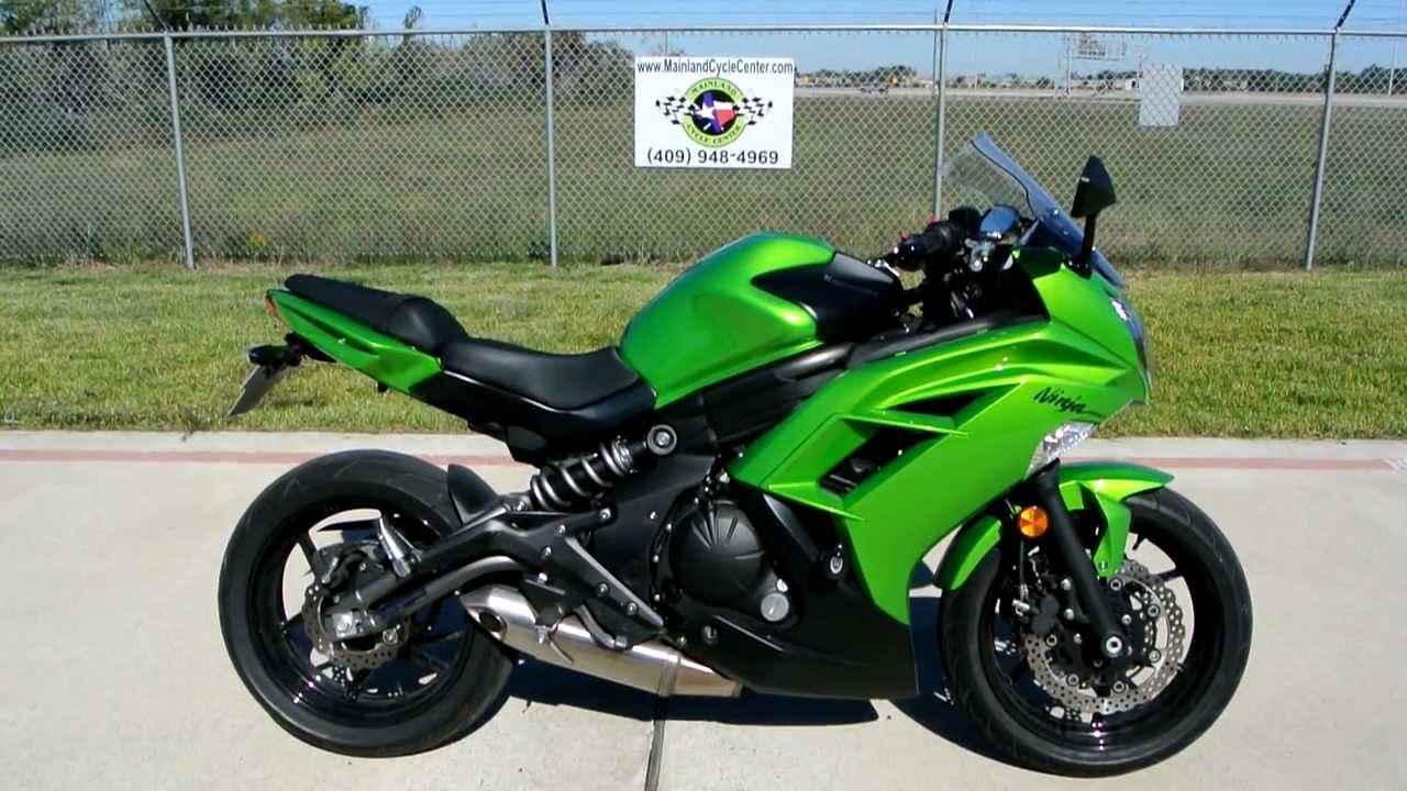 2012 Kawasaki Ninja 650 Candy Lime Green Review  YouTube