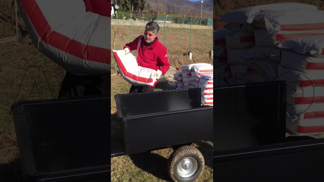Carrello Da Giardino Usato : Come funziona il carrello trainato grande per trattorino agrieuro