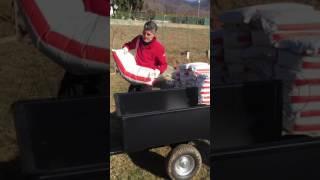 Come funziona il carrello trainato grande per trattorino AgriEuro