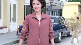 kirahosi 여성 트렌치 코트 중년 엄마 재킷 23…
