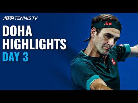 Federer Makes Comeback; Thiem Faces Karatsev | Doha 2021 Day 3 Highlights