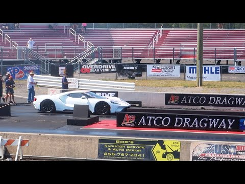 Drag Racing a $2 Million Ford GT (Fastest Ford GT 1/4 MILE) | Atco Raceway NJ