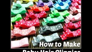 DIY | Kaip pasidaryti plaukų segtukus mergaitėms, naudojant grosgrain juosteles. Juostelių ir segtukų ruošinių rasite www.miniTextile.lt