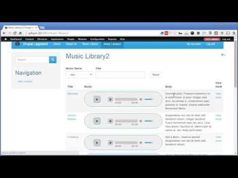 Drupal jPlayer - 1 - Overview