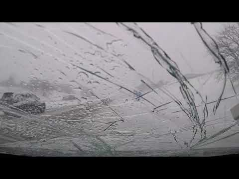 Scotty B -  Snow From Overpass Destroys Driver's Windshield