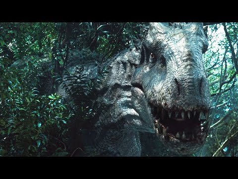 Download Youtube: Jurassic World Indominus Rex Camouflage Scene 1080p HD