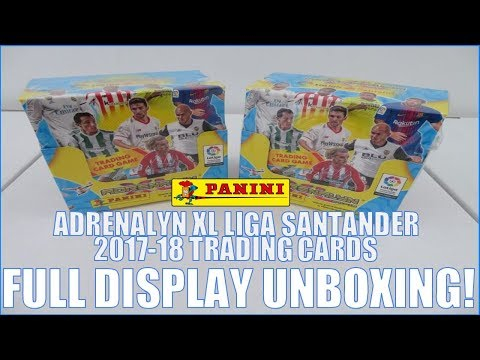 UK EXCLUSIVE ! | FULL BOOSTER BOX OPENING | Panini ADRENALYN XL LIGA SANTANDER 2017-18 Cards