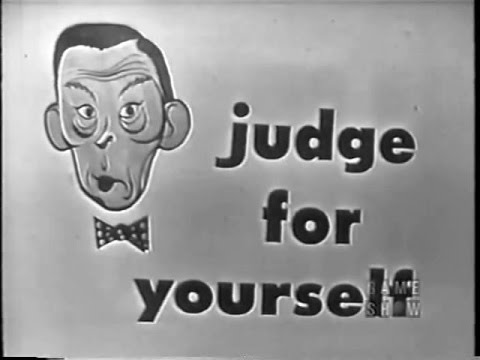 Judge For Yourself w FRED ALLEN   Final    by Frank Gorshin May 11, 1954