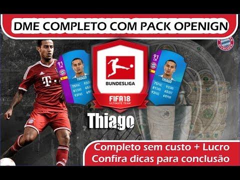 DME FIFA 18 Bundesliga Thiago Carta Azul 91 - Times Completos + Dicas - Lucro - Pack Openning