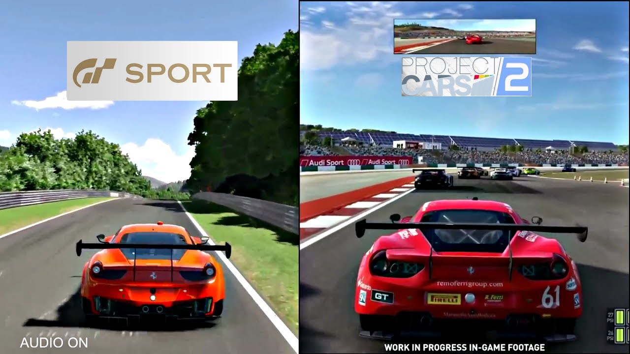 Gran Turismo Sport Vs Project Cars 2 Sounds Graphics