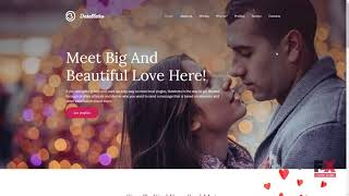 Datelletto - Dating Premium Moto CMS 3 Template TMT | Free Template