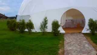 Шатер купол геодезический  летнее кафе для свадеб
