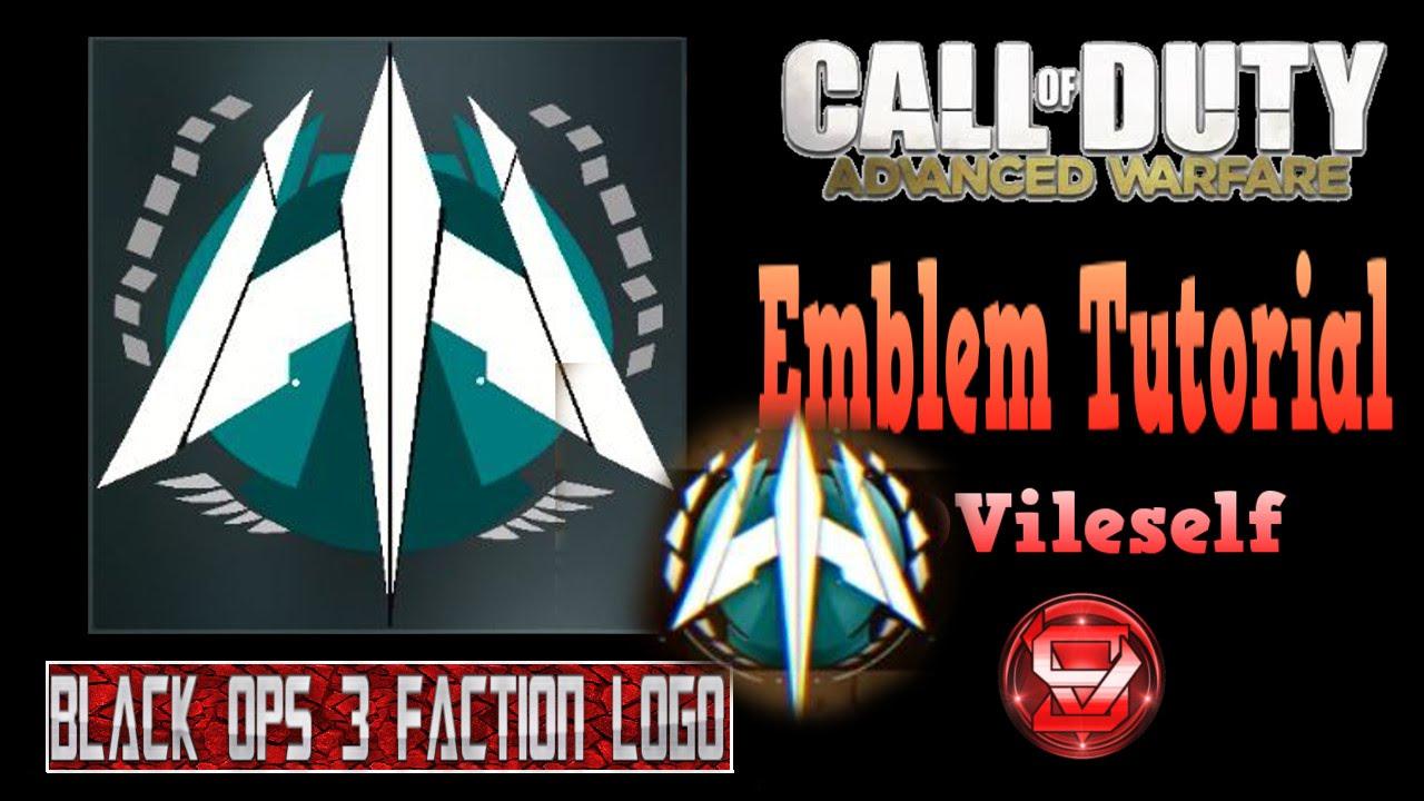 Advanced Warfare Emblem Tutorial Black Ops 3 Faction Logo