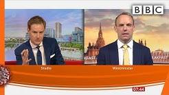 Raab takes quick-fire questions on England lockdown easing @BBC Breakfast @BBC News - BBC