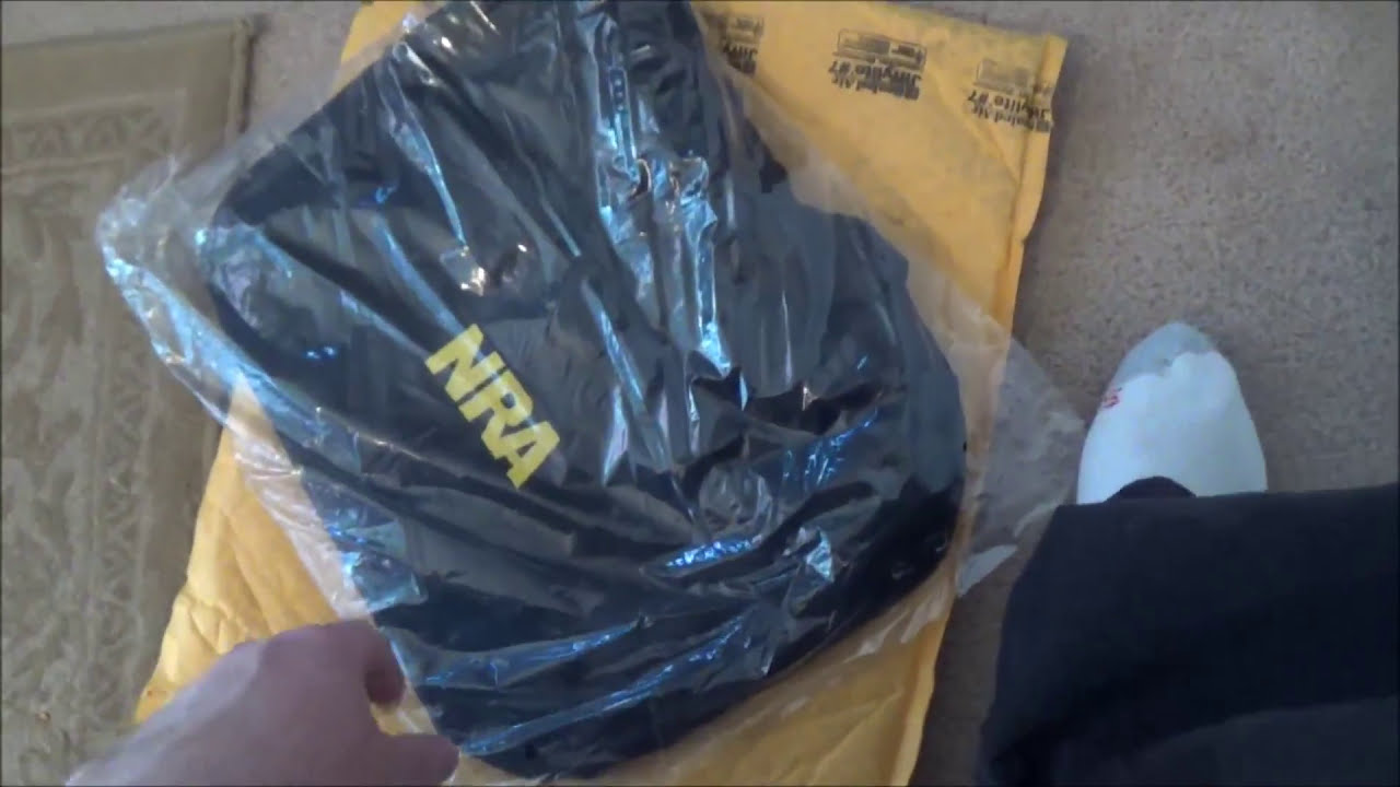 NRA Duffle Bag and Hat made in China! - YouTube