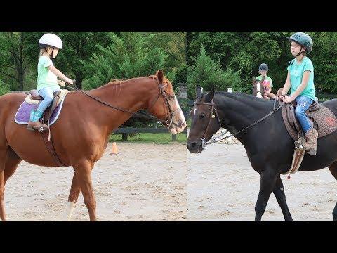 Maya Rides a Horse