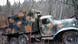 Crossing Siberian taiga on ZIL 157
