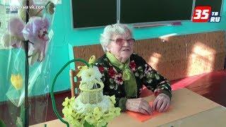 99-летняя вологжанка в День учителя провела урок русского языка