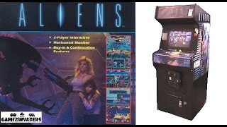 LET'S PLAY: Konami's ALIENS! Retro Arcade Shoot Em Up Game! Gameplay!