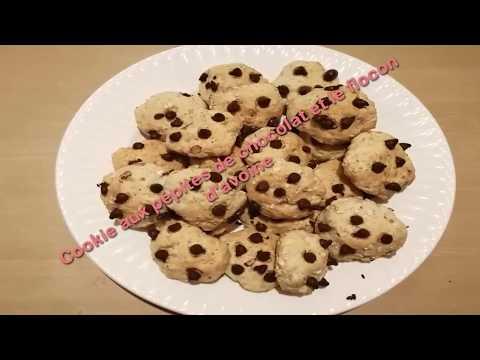 cookies-aux-pépites-de-chocolat-et-le-flocons-d'avoine