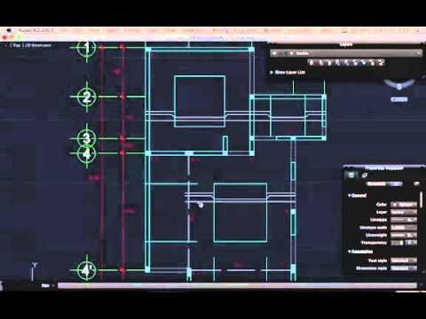 Autocad plano estructural youtube - Como hacer un plano de una casa ...