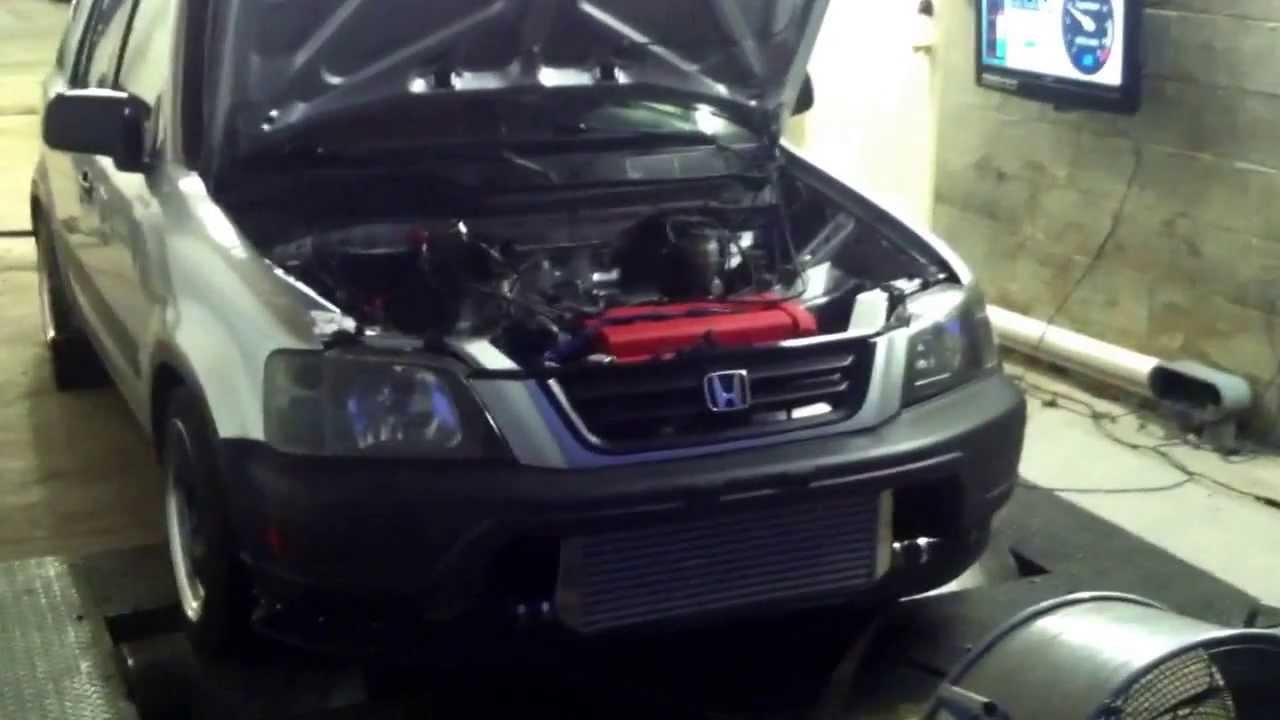 Turbo crv B20 Dyno run  Tuned by TRC Performance