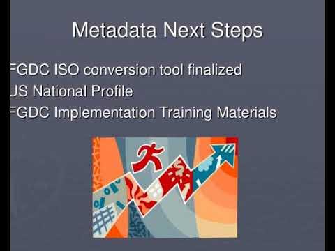 fgdc metadata standard transition to iso