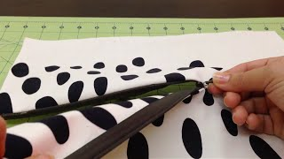 Repeat youtube video 8/ تركيب و خياطة السحاب المخفي how to sew invisible zipper
