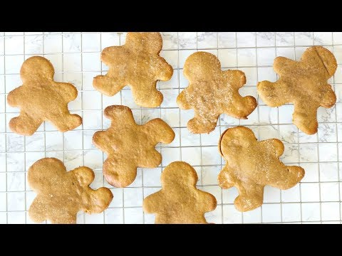 HEALTHY GINGERBREAD COOKIES! GLUTEN FREE & VEGAN CHRISTMAS COOKIES! KIN'S COOKIE COLLAB!