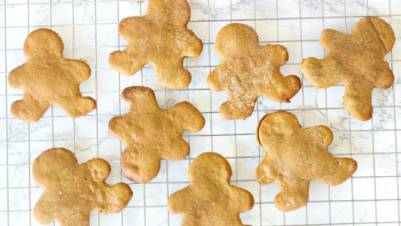 Healthy Gingerbread Cookies Gluten Free Vegan Christmas Cookies Kin S Cookie Collab