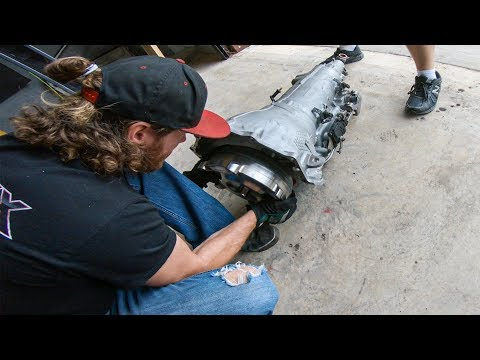 Installing The Race Truck's New Trans & Converter!