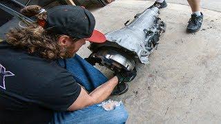Installing the Race Truck's new Trans & Converter!