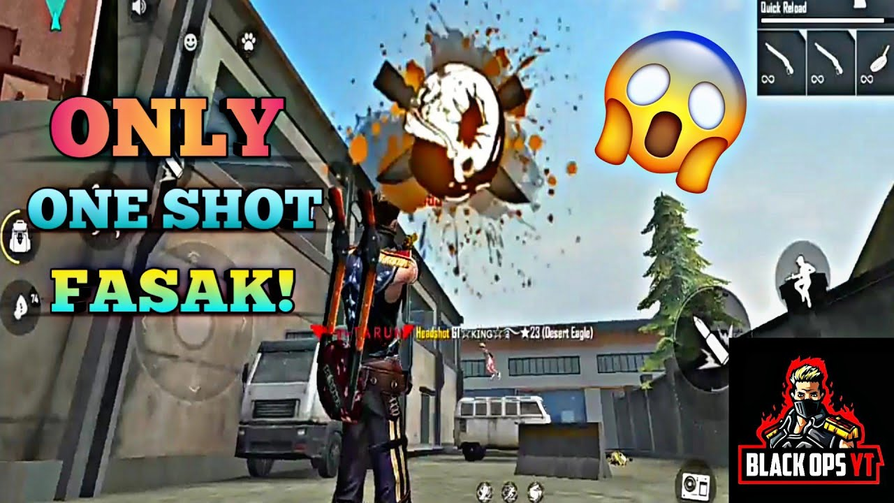 ONLY ONE SHOT FASAK! |ONE TAP HEADSHOT'S WITH DESERT EAGLE IN TRAINING MODE |BLK TARUN |BLACK OPS YT