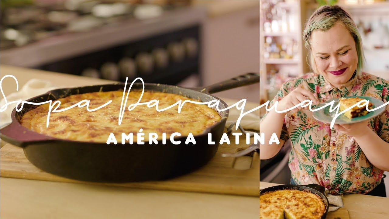 SOPA PARAGUAIA (bolo salgado de milho e queijo)| Latinoamérica